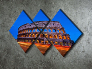 Colosseum at dusk 4 Square Multi Panel Canvas  - Canvas Art Rocks - 2