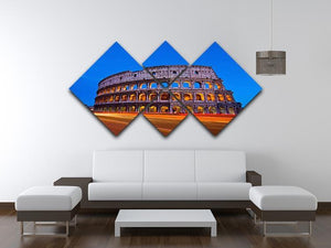 Colosseum at dusk 4 Square Multi Panel Canvas  - Canvas Art Rocks - 3