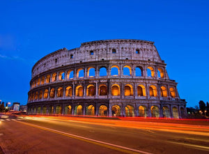 Colosseum at dusk Wall Mural Wallpaper - Canvas Art Rocks - 1