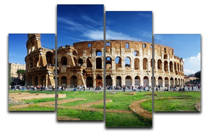 Colosseum in Rome Italy 4 Split Panel Canvas  - Canvas Art Rocks - 1
