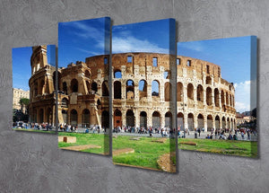 Colosseum in Rome Italy 4 Split Panel Canvas  - Canvas Art Rocks - 2