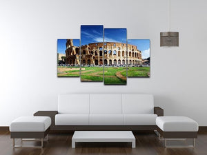 Colosseum in Rome Italy 4 Split Panel Canvas  - Canvas Art Rocks - 3