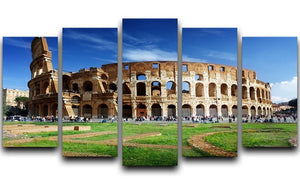 Colosseum in Rome Italy 5 Split Panel Canvas  - Canvas Art Rocks - 1