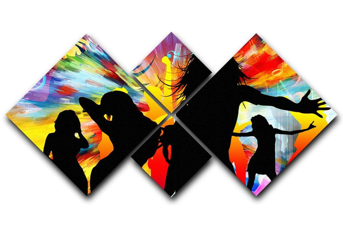 Colour Blast Dance 4 Square Multi Panel Canvas