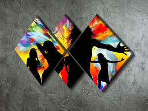 Colour Blast Dance 4 Square Multi Panel Canvas - Canvas Art Rocks - 2