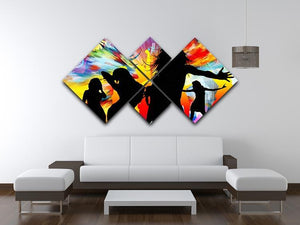 Colour Blast Dance 4 Square Multi Panel Canvas - Canvas Art Rocks - 3