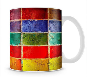 Coloured Squares Mug - Canvas Art Rocks - 1
