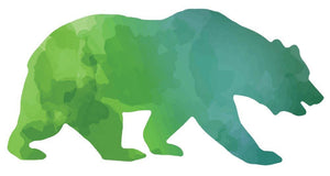 Colorful Bear Silhouette Wall Decal - Canvas Art Rocks