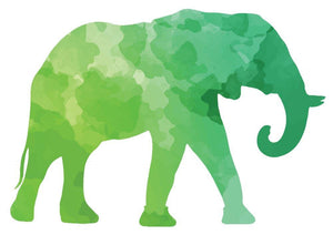 Colorful Elephant Silhouette Wall Decal - Canvas Art Rocks - 2