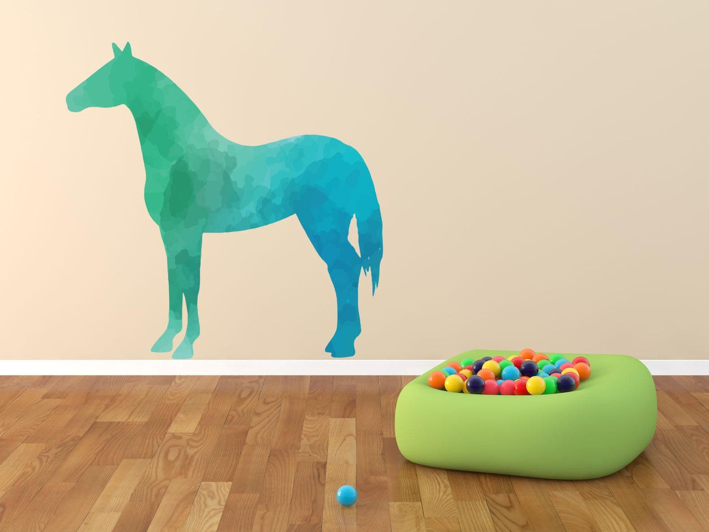 Colorful Horse Silhouette Wall Decal Canvas Art Rocks