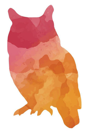 Colorful Owl Silhouette Wall Decal - Canvas Art Rocks - 3