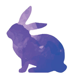 Colorful Rabbit Silhouette Wall Decal - Canvas Art Rocks - 3