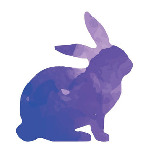 Colorful Rabbit Silhouette Wall Decal - Canvas Art Rocks - 2