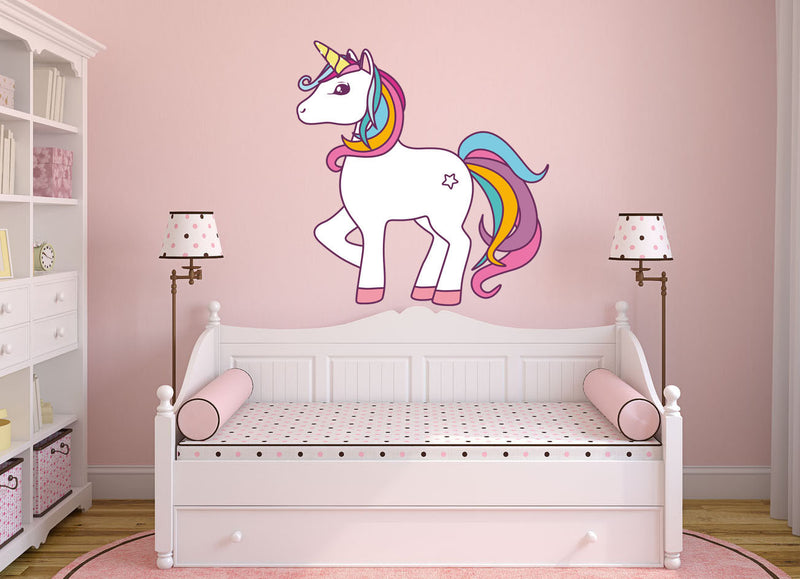 Colorful Unicorn Wall Decal - US Canvas Art Rocks