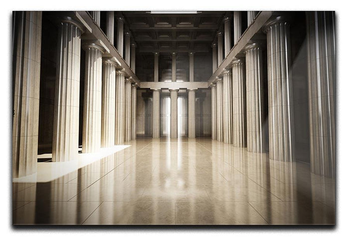 Column interior empty room Canvas Print or Poster