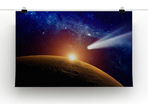Comet approaching planet Mars Canvas Print or Poster - Canvas Art Rocks - 2