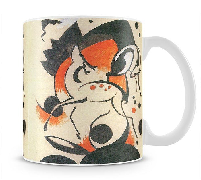 Composition with two deer by Franz Marc Mug