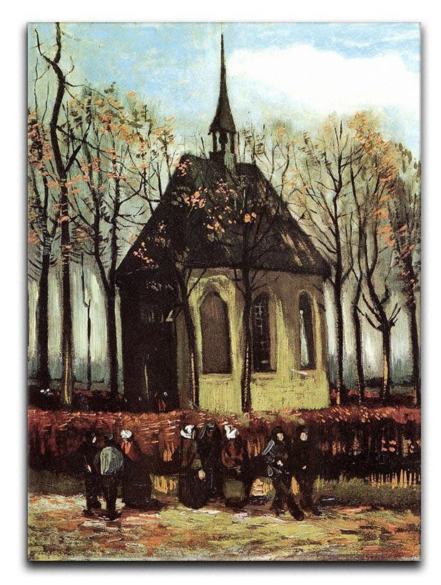 Congregation Leaving the Reformed Church in Nuenen by Van Gogh Canvas Print or Poster