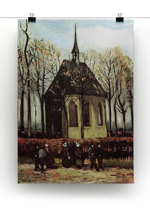 Congregation Leaving the Reformed Church in Nuenen by Van Gogh Canvas Print & Poster - Canvas Art Rocks - 2