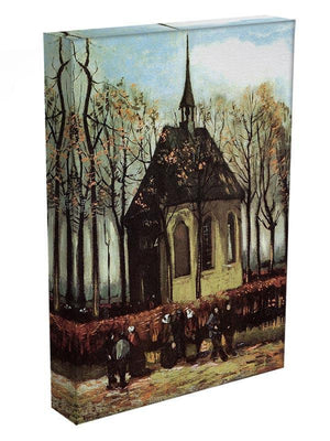 Congregation Leaving the Reformed Church in Nuenen by Van Gogh Canvas Print & Poster - Canvas Art Rocks - 3