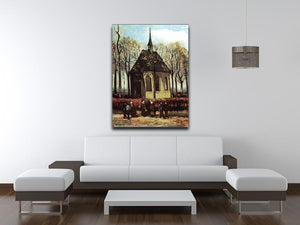 Congregation Leaving the Reformed Church in Nuenen by Van Gogh Canvas Print & Poster - Canvas Art Rocks - 4