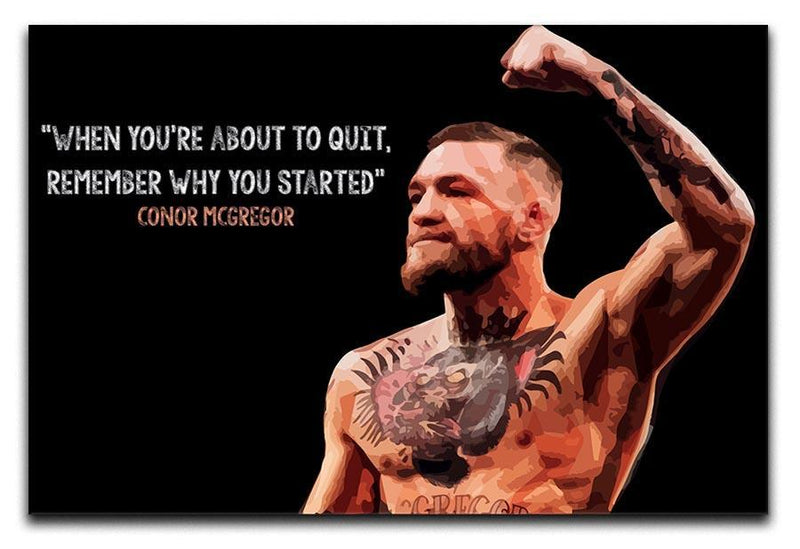 Conor Mcgregor Quit Canvas Print or Poster  - Canvas Art Rocks - 1