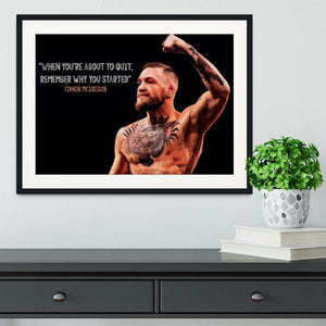 Conor Mcgregor Quit Framed Print - Canvas Art Rocks - 1