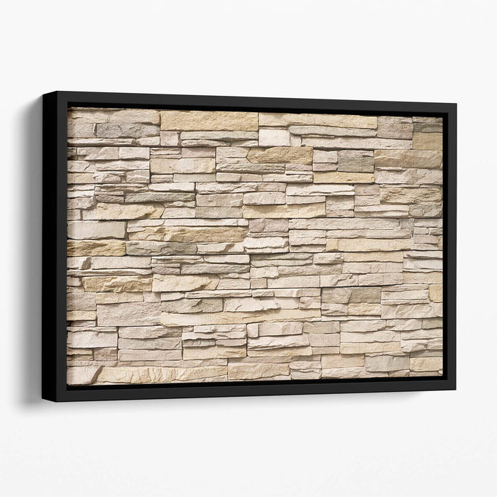 Contemporary stacked stone Floating Framed Canvas
