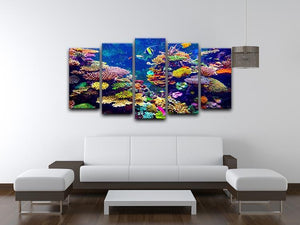 Coral Reef and Tropical Fish 5 Split Panel Canvas  - Canvas Art Rocks - 3