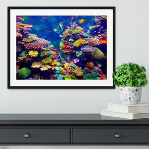 Coral Reef and Tropical Fish Framed Print - Canvas Art Rocks - 1