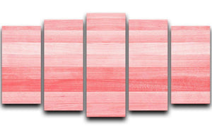 Coral pink or peach and salmon color 5 Split Panel Canvas  - Canvas Art Rocks - 1