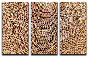 Corrugated cardboard abstract 3 Split Panel Canvas Print - Canvas Art Rocks - 1