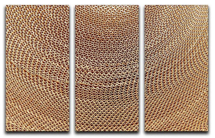 Corrugated cardboard abstract 3 Split Panel Canvas Print