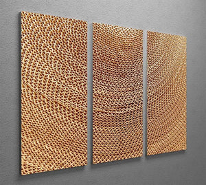 Corrugated cardboard abstract 3 Split Panel Canvas Print - Canvas Art Rocks - 2