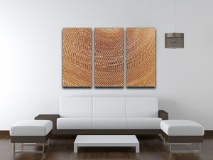 Corrugated cardboard abstract 3 Split Panel Canvas Print - Canvas Art Rocks - 3