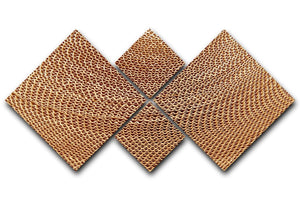 Corrugated cardboard abstract 4 Square Multi Panel Canvas  - Canvas Art Rocks - 1