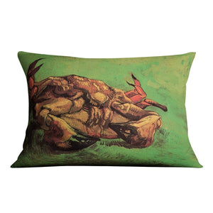 Crab on Its Back by Van Gogh Throw Pillow