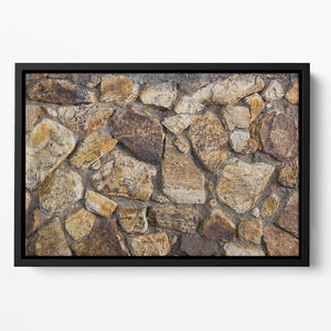 Cracked brick wall background Floating Framed Canvas