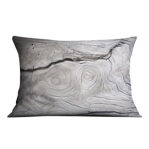 Cracks and structures in wood Cushion - Canvas Art Rocks - 4