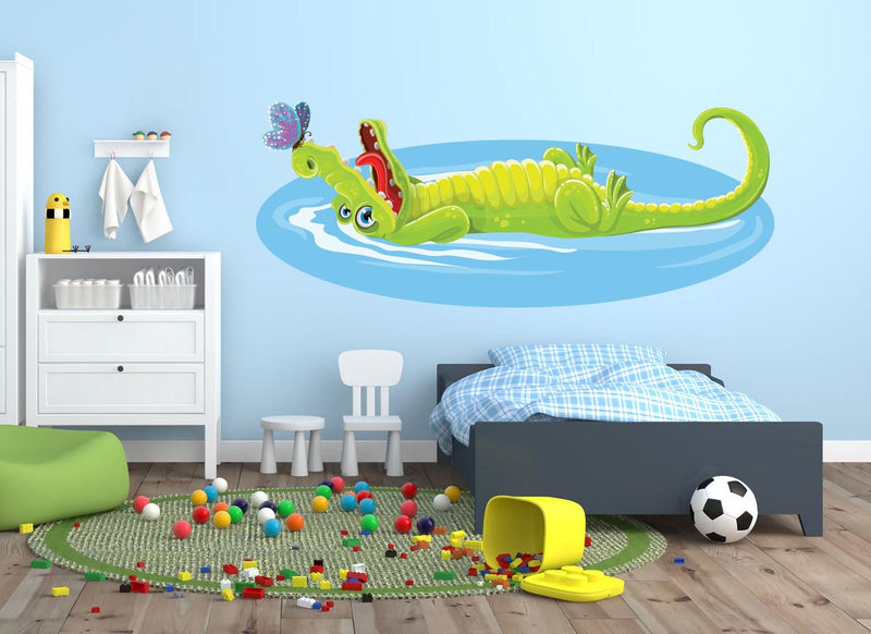 Crocodile Wall Decal - Canvas Art Rocks - 1