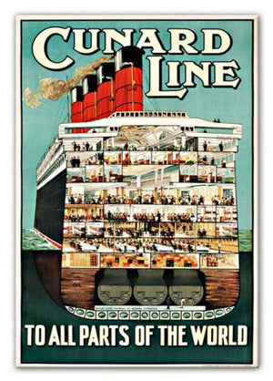 Cunard Line Print - Canvas Art Rocks - 1