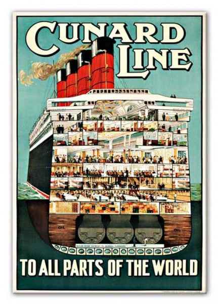Cunard Line Canvas Print or Poster