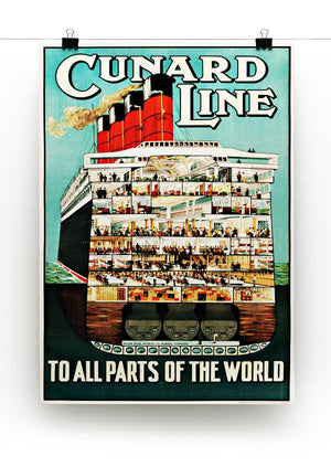 Cunard Line Print - Canvas Art Rocks - 2