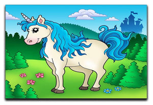 Cute unicorn in forest Canvas Print or Poster  - Canvas Art Rocks - 1