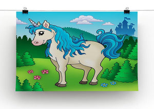 Cute unicorn in forest Canvas Print or Poster - Canvas Art Rocks - 2