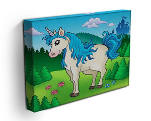 Cute unicorn in forest Canvas Print or Poster - Canvas Art Rocks - 3
