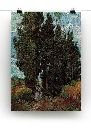 Cypresses with Two Female Figures by Van Gogh Canvas Print & Poster - Canvas Art Rocks - 2