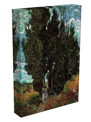 Cypresses with Two Female Figures by Van Gogh Canvas Print & Poster - Canvas Art Rocks - 3