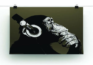 DJ Monkey Headphones Canvas Print or Poster - Canvas Art Rocks - 2