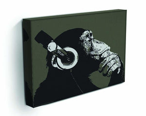 DJ Monkey Headphones Canvas Print or Poster - Canvas Art Rocks - 3
